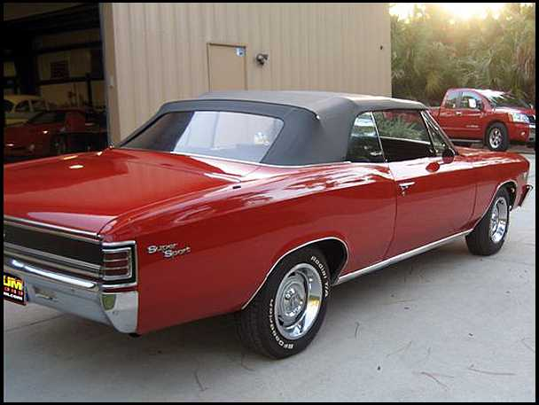 1967 CHEVELLE 396/350HP CONVERTIBLE
